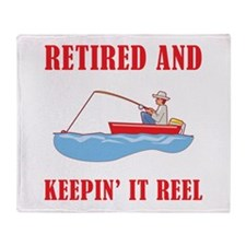 Funny Fishing Retirement Throw Blanket