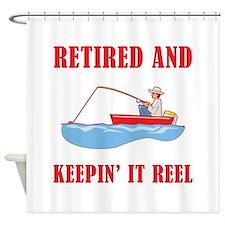 Funny Fishing Retirement Shower Curtain