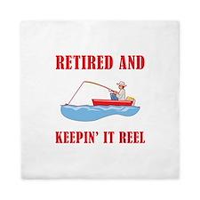 Funny Fishing Retirement Queen Duvet