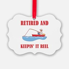 Funny Fishing Retirement Ornament