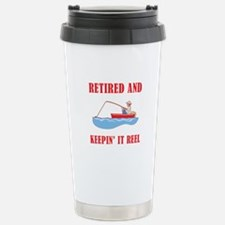 Funny Fishing Retirement Travel Mug