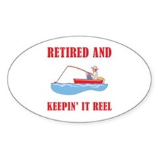 Funny Fishing Retirement Decal