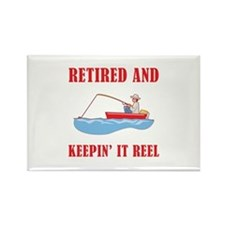 Funny Fishing Retirement Rectangle Magnet