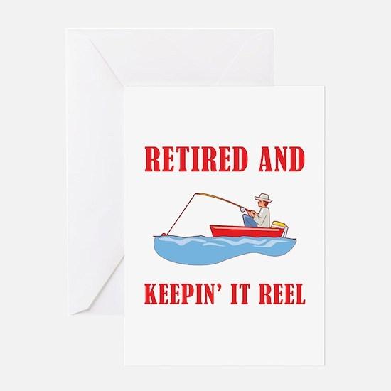 Funny Fishing Retirement Greeting Card