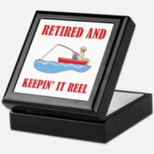 Funny Fishing Retirement Keepsake Box