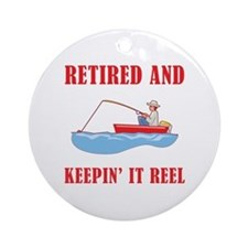 Funny Fishing Retirement Ornament (Round)