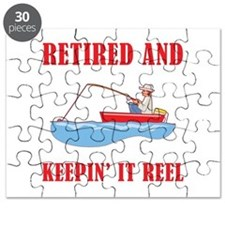 Funny Fishing Retirement Puzzle