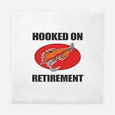 Retired Fishing Humor Queen Duvet