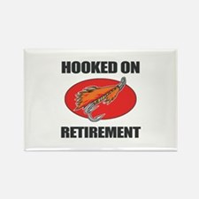 Retired Fishing Humor Rectangle Magnet