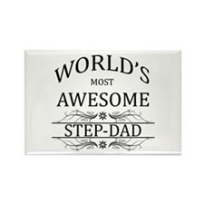 World's Most Awesome Step-Dad Rectangle Magnet