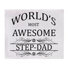 World's Most Awesome Step-Dad Throw Blanket