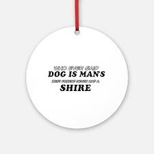 Funny Shire designs Ornament (Round)