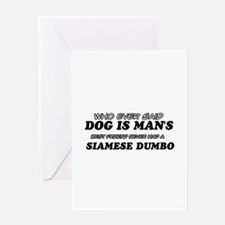 Funny Siamese Dumbo designs Greeting Card