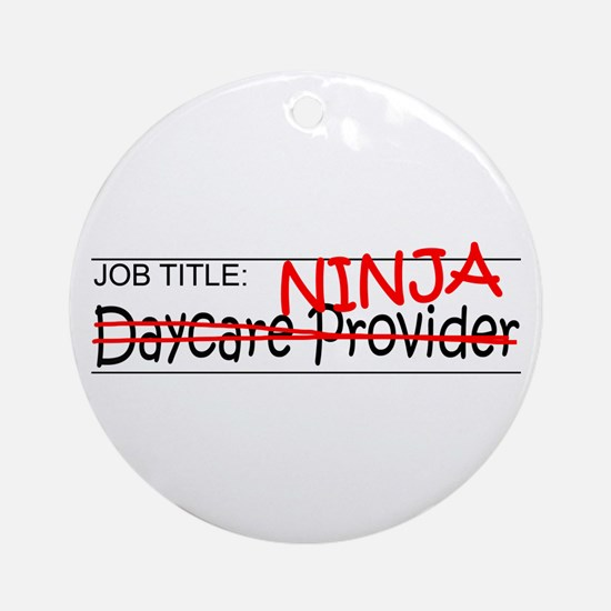 Job Ninja Daycare Ornament (Round)