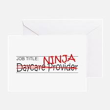 Job Ninja Daycare Greeting Card