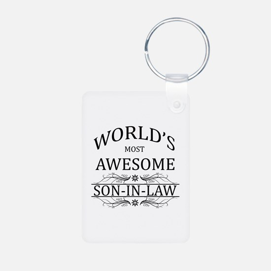 World's Most Awesome Son-in-Law Aluminum Photo Key