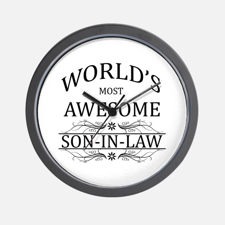 World's Most Awesome Son-in-Law Wall Clock
