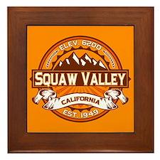 Squaw Valley Tangerine Framed Tile