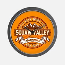 Squaw Valley Tangerine Wall Clock