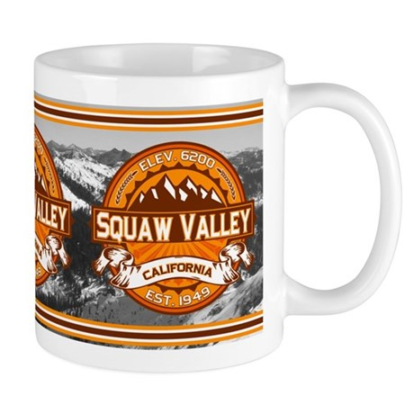 Squaw Valley Tangerine Mug