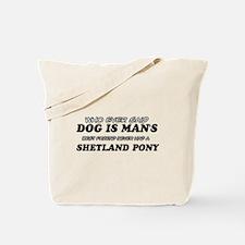 Funny Shetland Pony designs Tote Bag