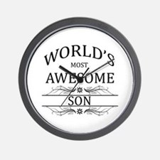 World's Most Awesome Son Wall Clock