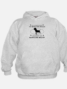 Neapolitan Mastiff Dog breed designs Hoodie