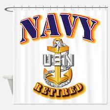 NAVY - SCPO - Retired Shower Curtain