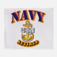 NAVY - SCPO - Retired Throw Blanket