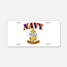 NAVY - SCPO - Retired Aluminum License Plate