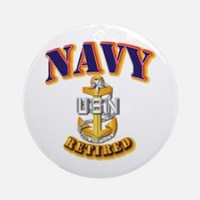 NAVY - SCPO - Retired Ornament (Round)