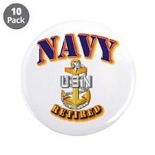 """NAVY - SCPO - Retired 3.5"""" Button (10 pack)"""