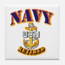 NAVY - SCPO - Retired Tile Coaster