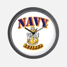 NAVY - SCPO - Retired Wall Clock