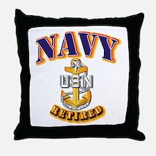 NAVY - SCPO - Retired Throw Pillow