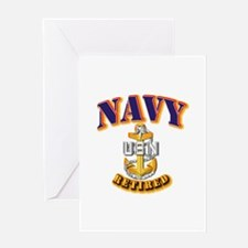 NAVY - SCPO - Retired Greeting Card
