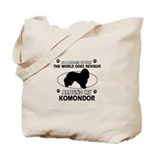 Komondor Dog breed designs Tote Bag