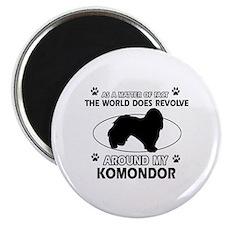 Komondor Dog breed designs Magnet