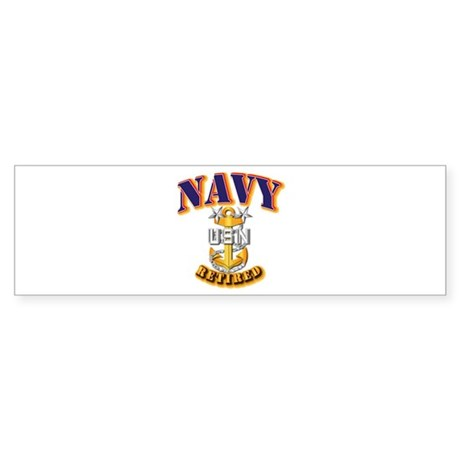 NAVY - MCPO - Retired Sticker (Bumper)