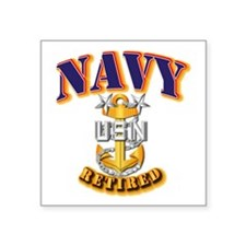 "NAVY - MCPO - Retired Square Sticker 3"" x 3"""