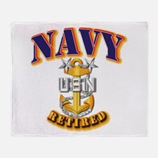 NAVY - MCPO - Retired Throw Blanket