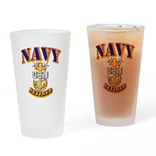 NAVY - MCPO - Retired Drinking Glass