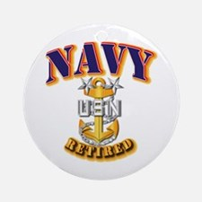 NAVY - MCPO - Retired Ornament (Round)