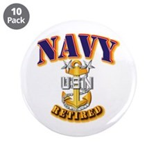 "NAVY - MCPO - Retired 3.5"" Button (10 pack)"