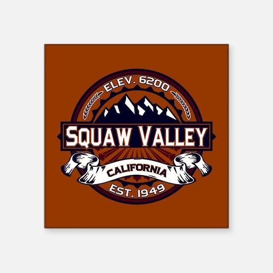 """Squaw Valley Vibrant Square Sticker 3"""" x 3"""""""