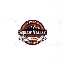 Squaw Valley Vibrant Aluminum License Plate
