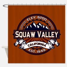 Squaw Valley Vibrant Shower Curtain