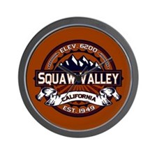 Squaw Valley Vibrant Wall Clock