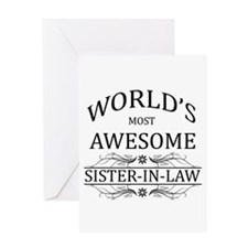 World's Most Awesome Sister-in-Law Greeting Card