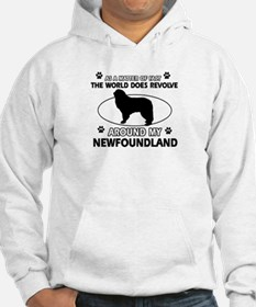 NewFoundland Dog breed designs Jumper Hoody